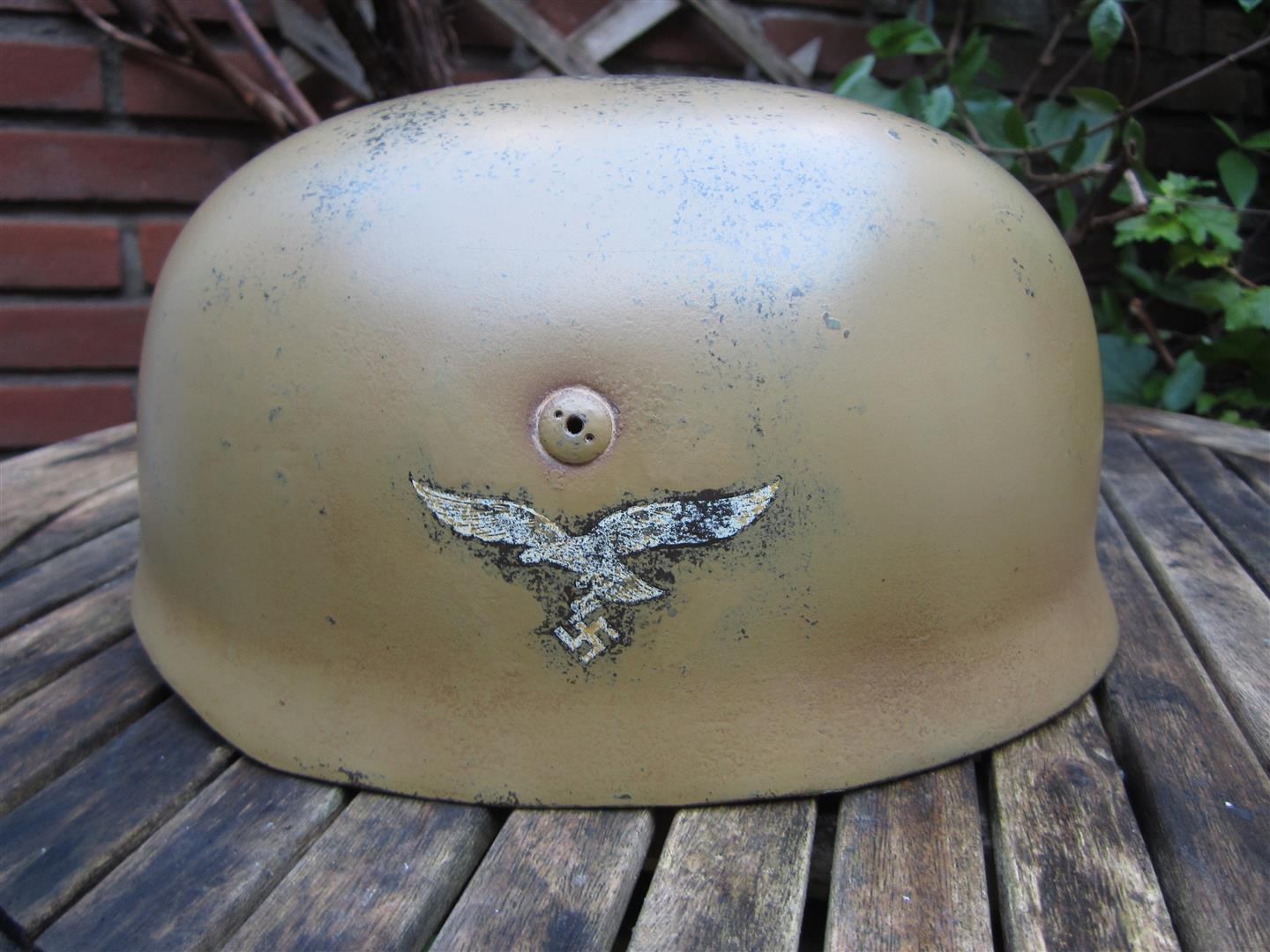 WW2 Falschirmjager Helmet, Camoflaged - Copy
