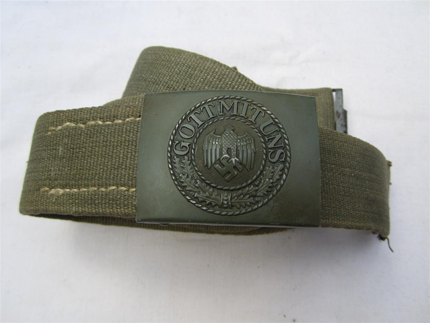 WW2 DAK Belt & Buckle