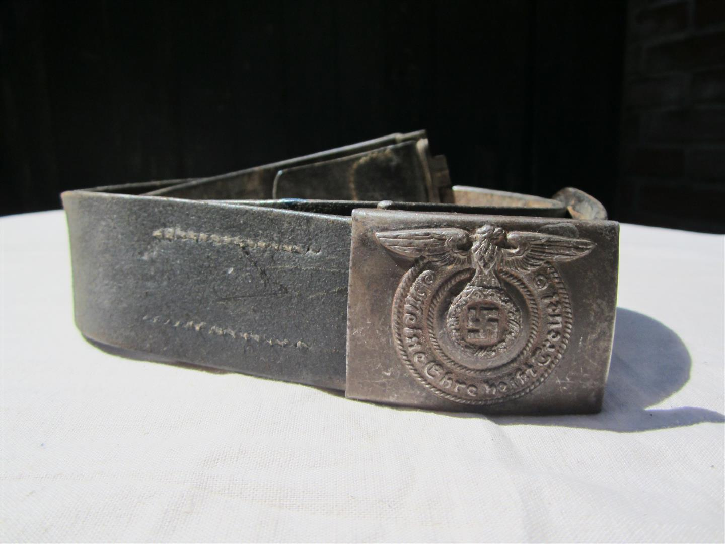 WW2 SS Steel Belt & Buckle