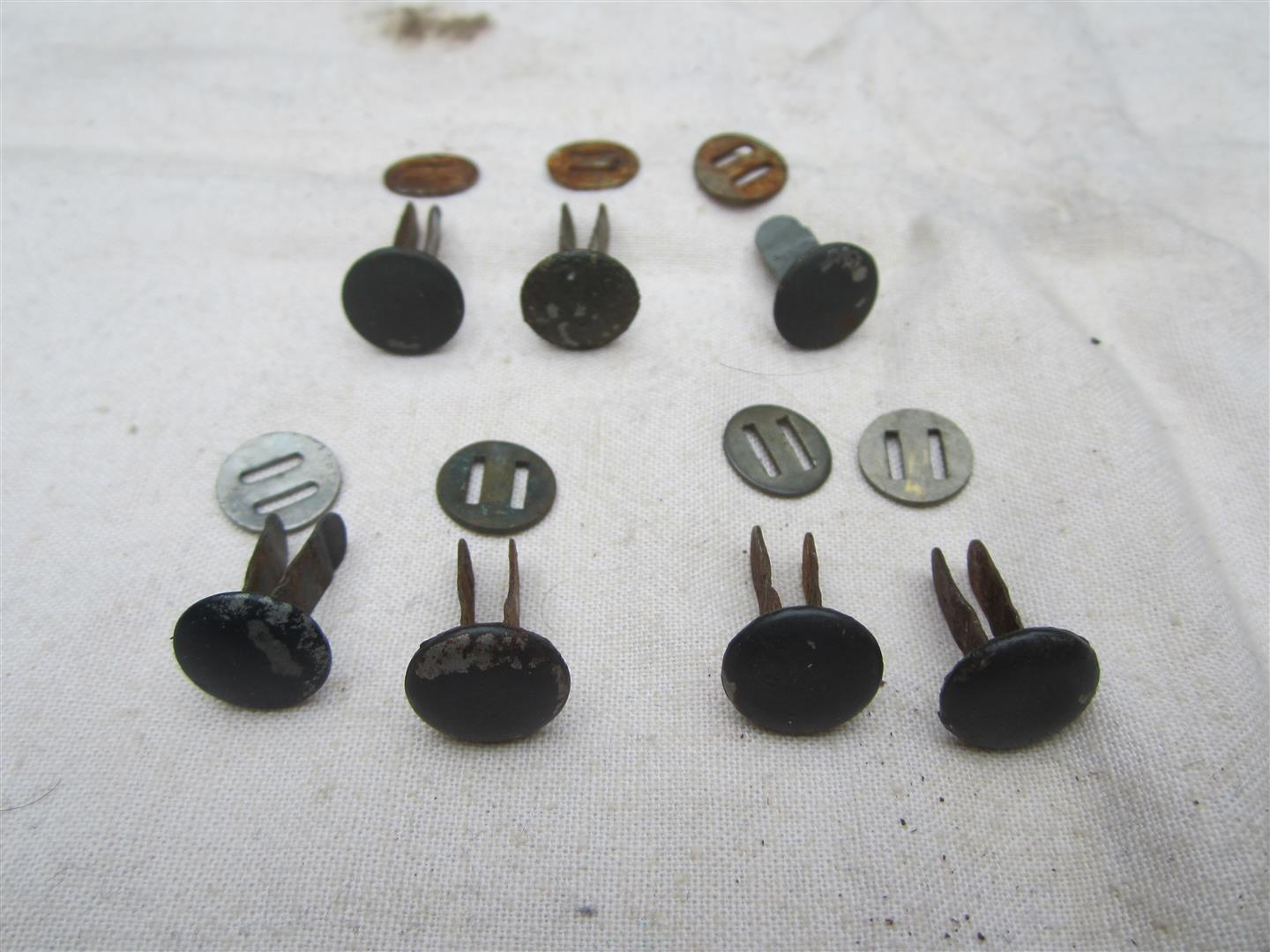WW2 German Helmet Original WL/WH Liner Pins - Painted