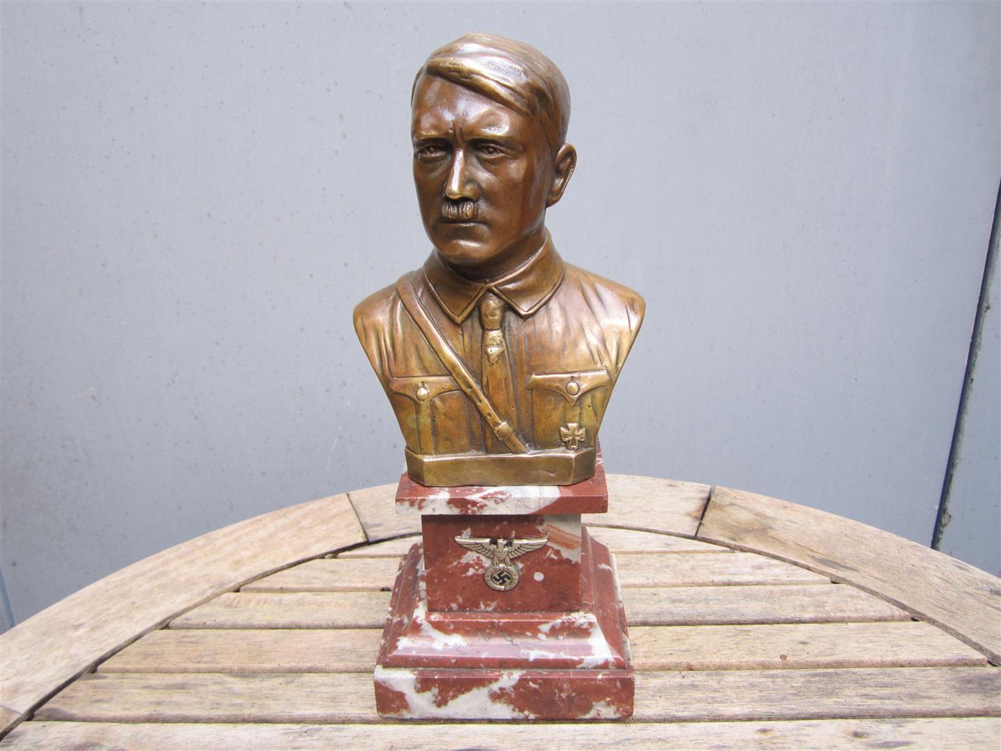 WW2 Bronze Desk Bust, Adolf Hitler