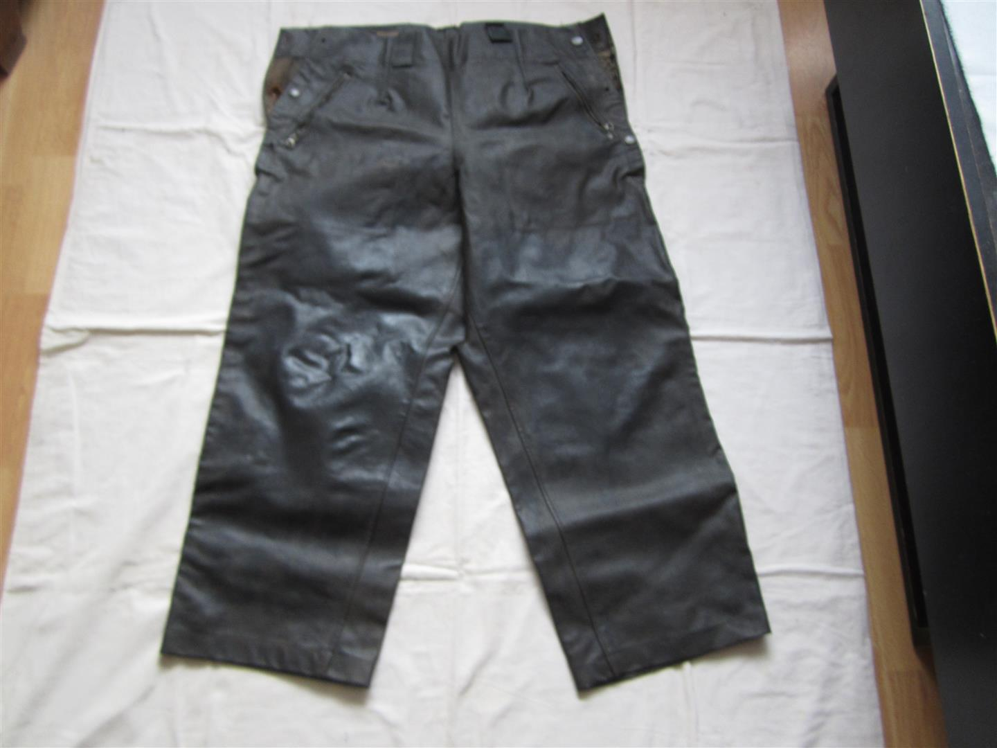 WW2 WH Pioneer Leather Protective Trousers