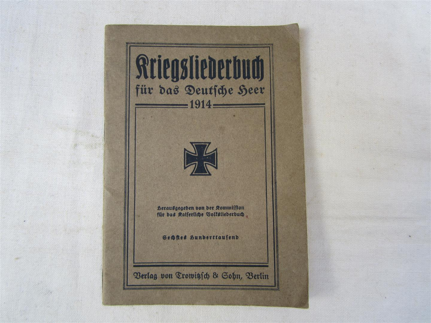 WW1 German Kriegsliederbuch