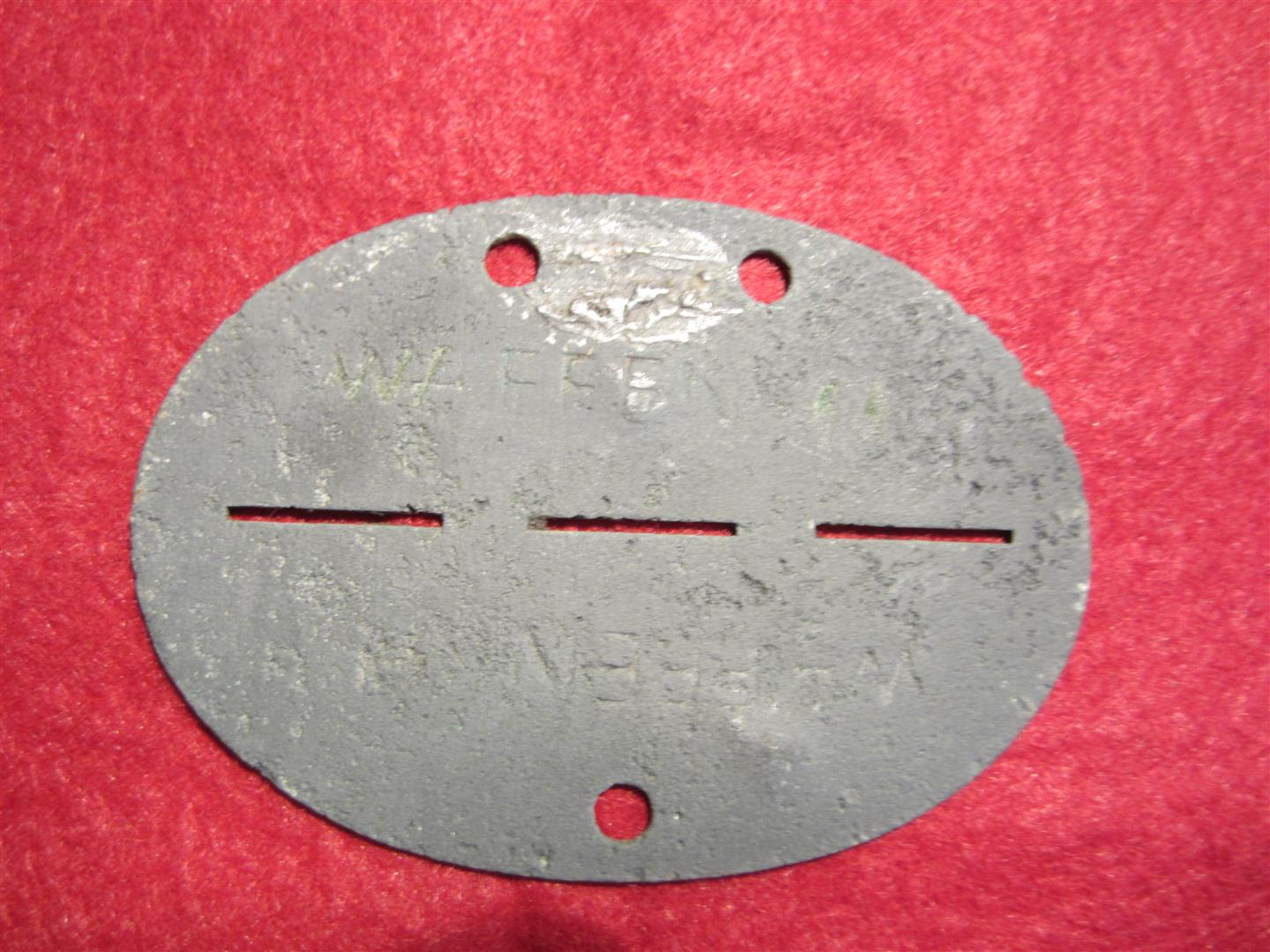 WW2 Hohenstaufen 9th SS Div. Dog Tag