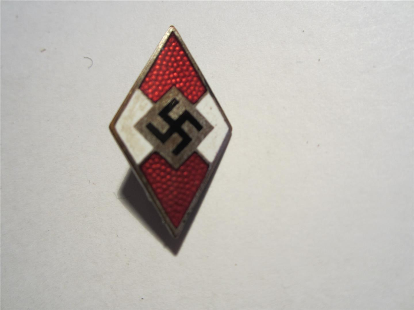 WW2 German H.J. Cap Badge