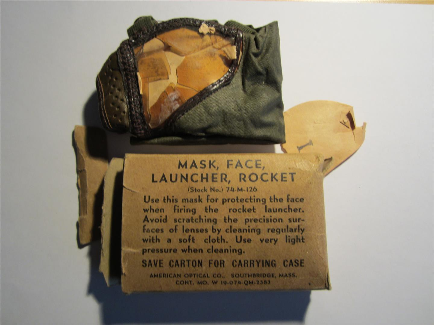 WW2 US Rocket Launcher Face Mask