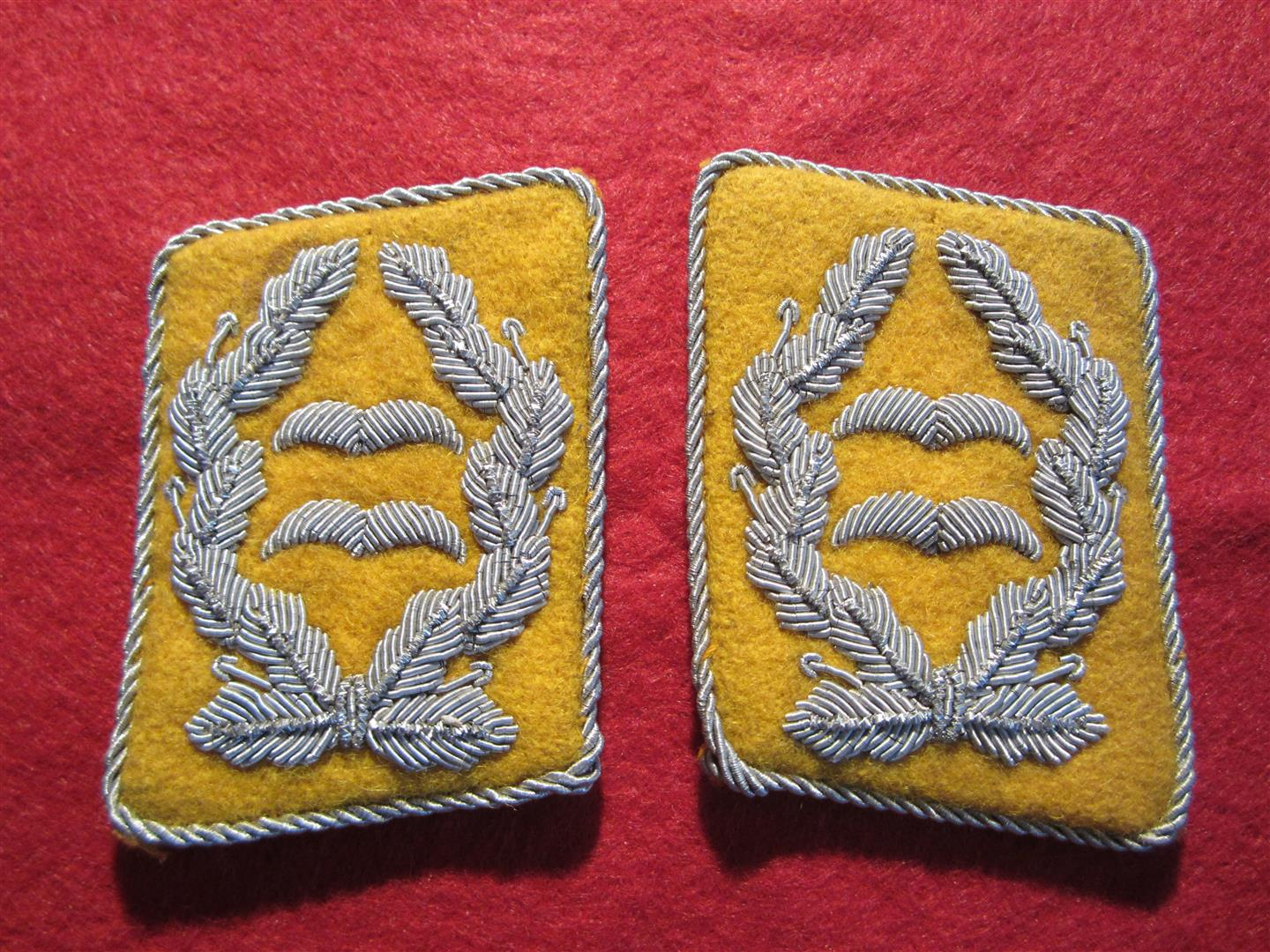 WW2 German WL Oberstleutnant Collar Patches