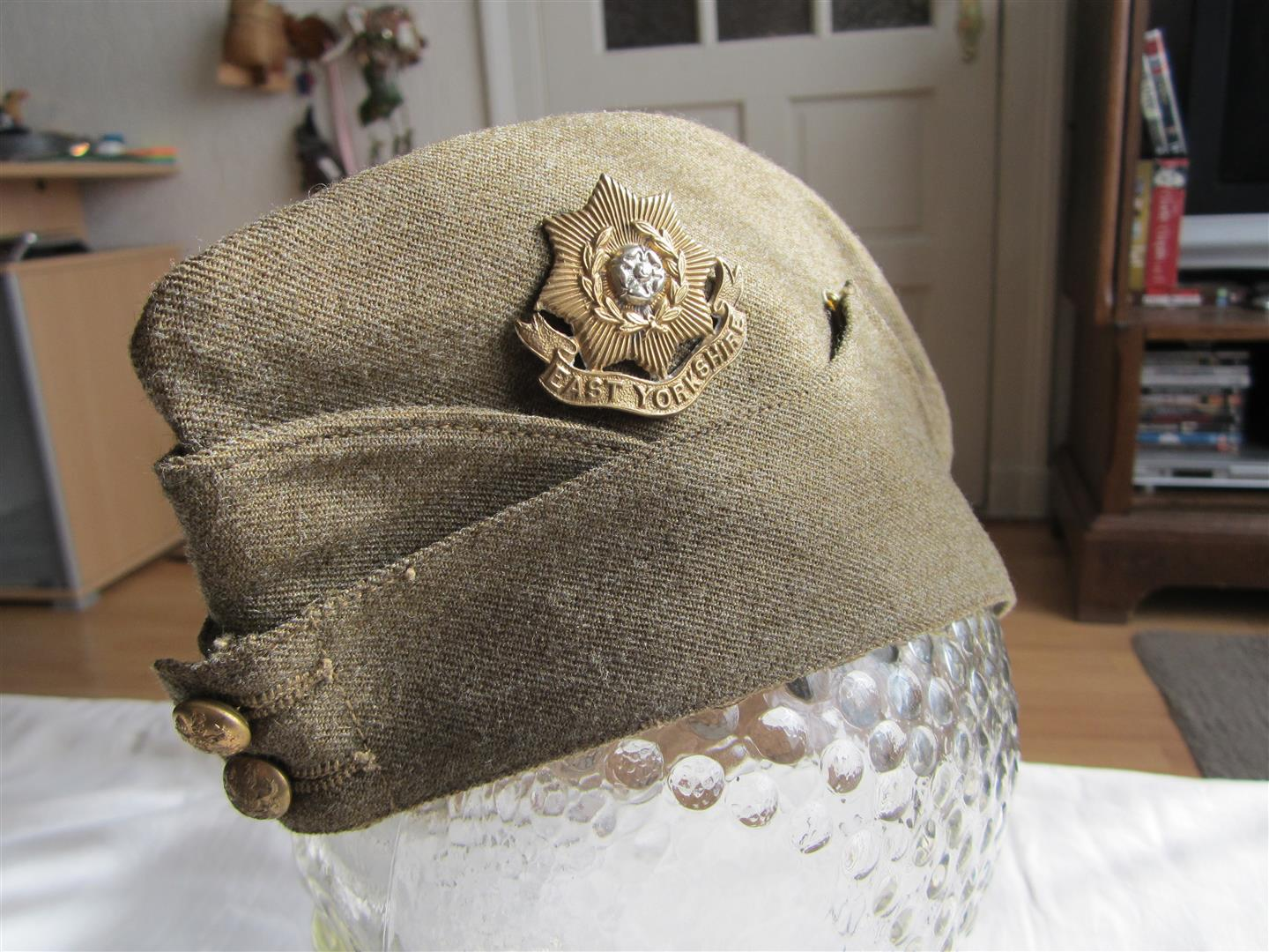 WW2 British Army Side Cap - East Yorkshire