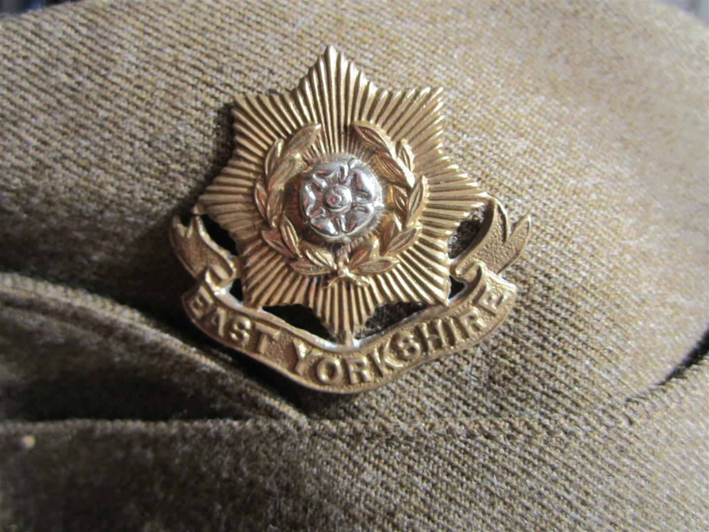 WW2 British 1939 Army Side Cap - East Yorkshire