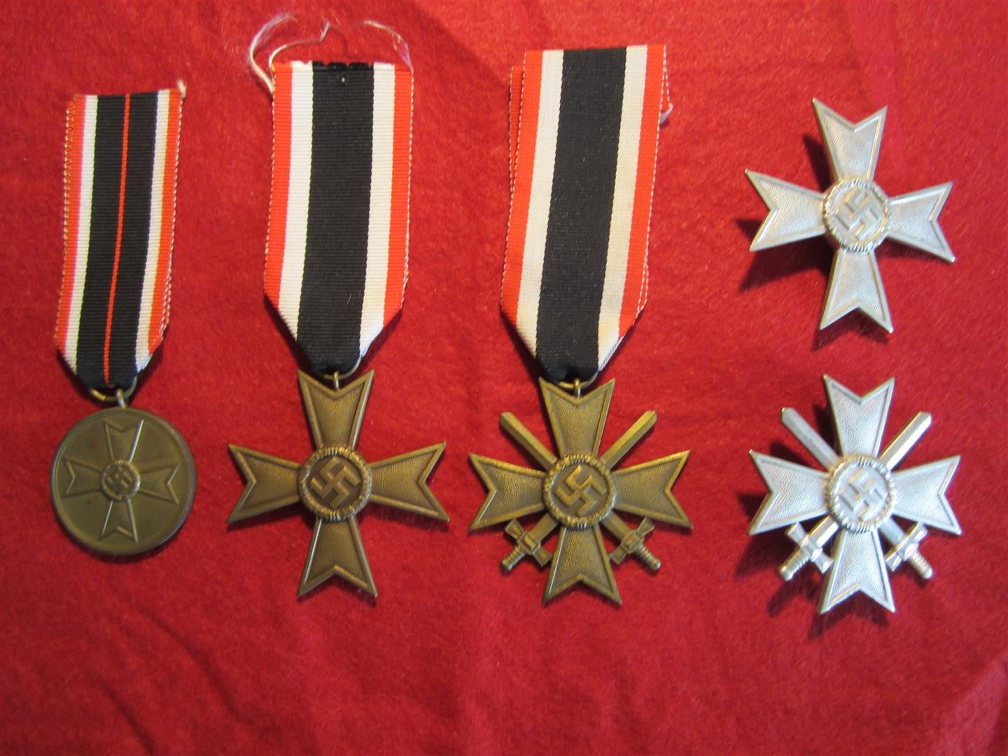 WW2 German War Merit Medals/Crosses