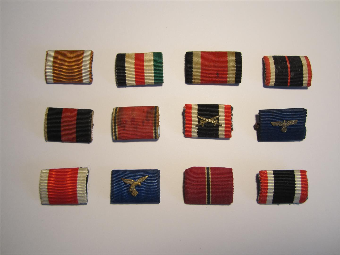 WW2 German Medal Ribbon Bars