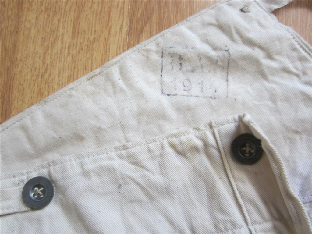 WW1 German Army White Drill trousers