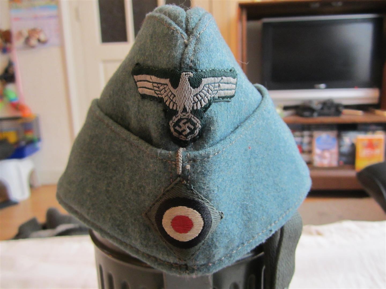 Ww2 German Police M43 Hat Badge: WW2 German Polizei Side Cap