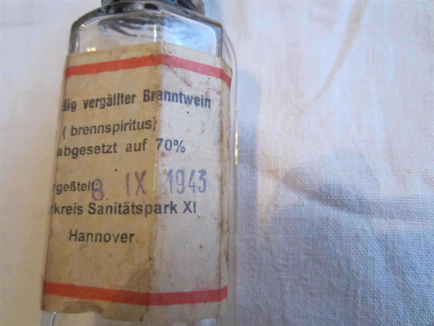 WW2 German Medical 'Brennspiritus' Bottle