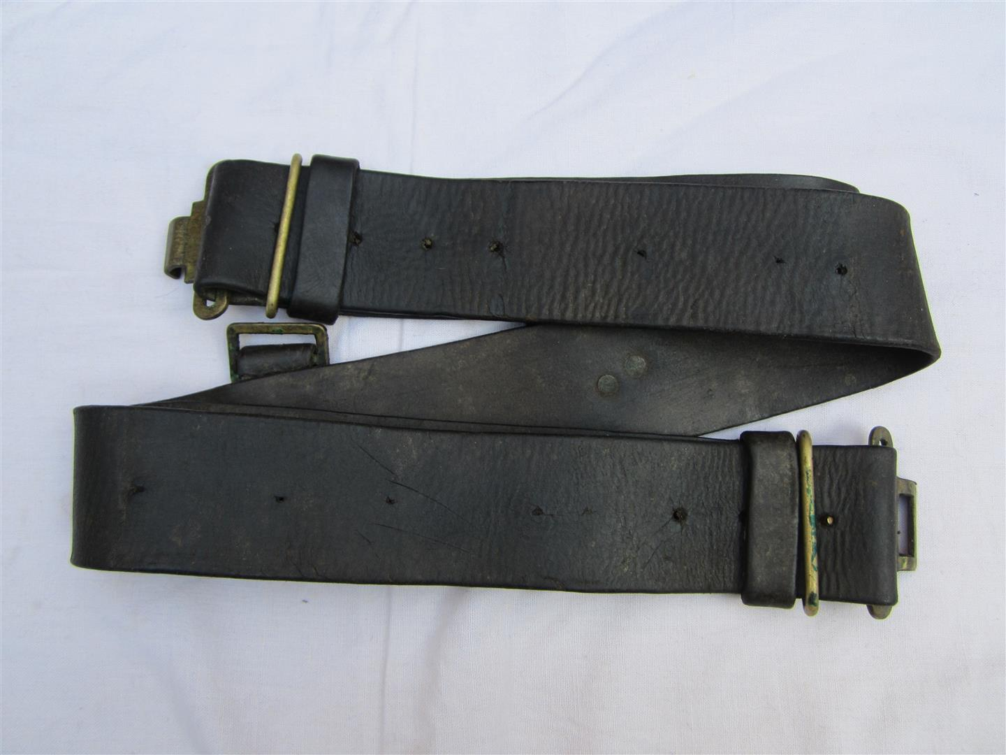 WW2 British Home Guards Leather Equipment Belt