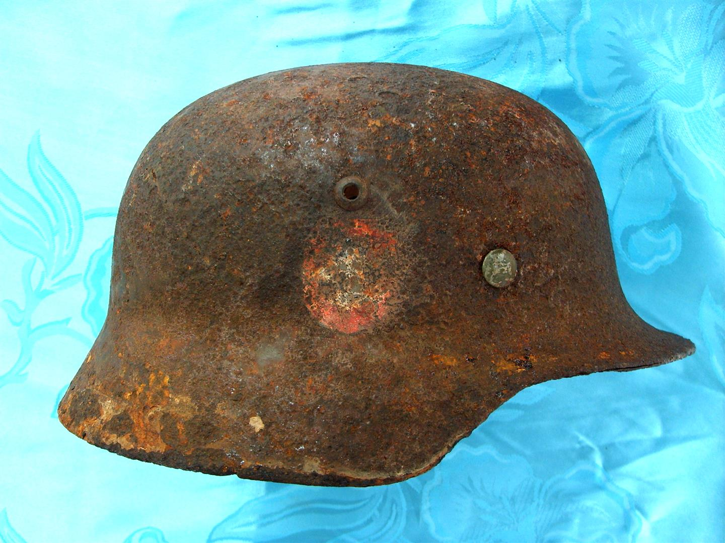 WW2 M35 SS Polizei Double Decal Helmet