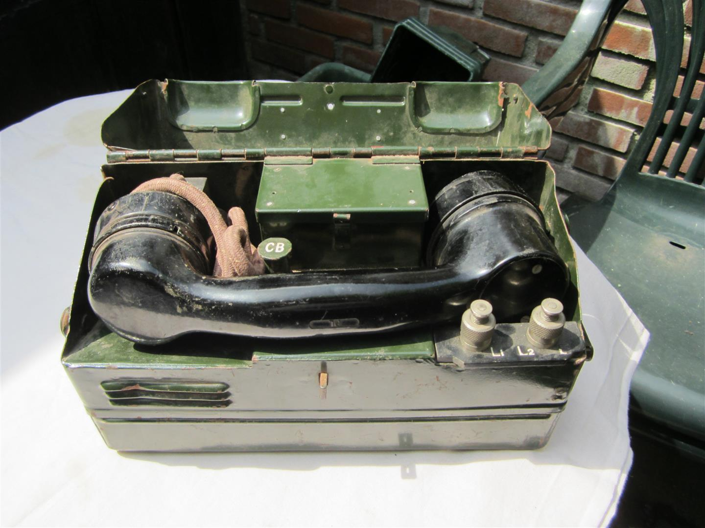 WW2 British LMK 1/1 Field Telephone