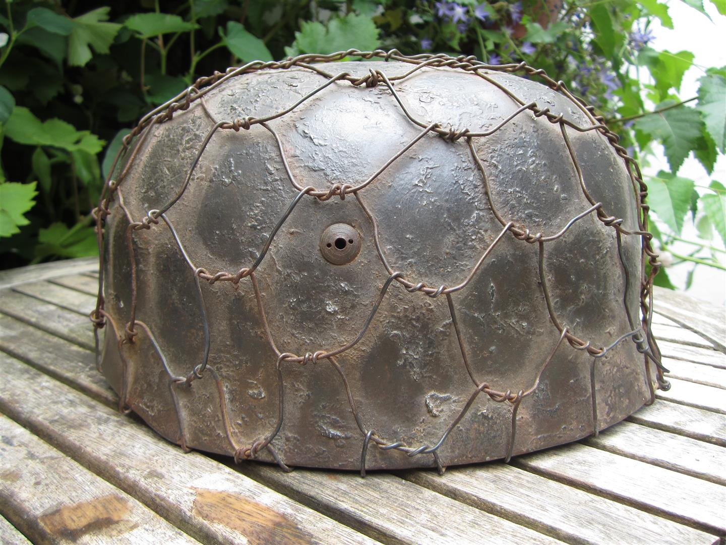 WW2 Falschirmjager Helmet, Camoflaged - Reproduction