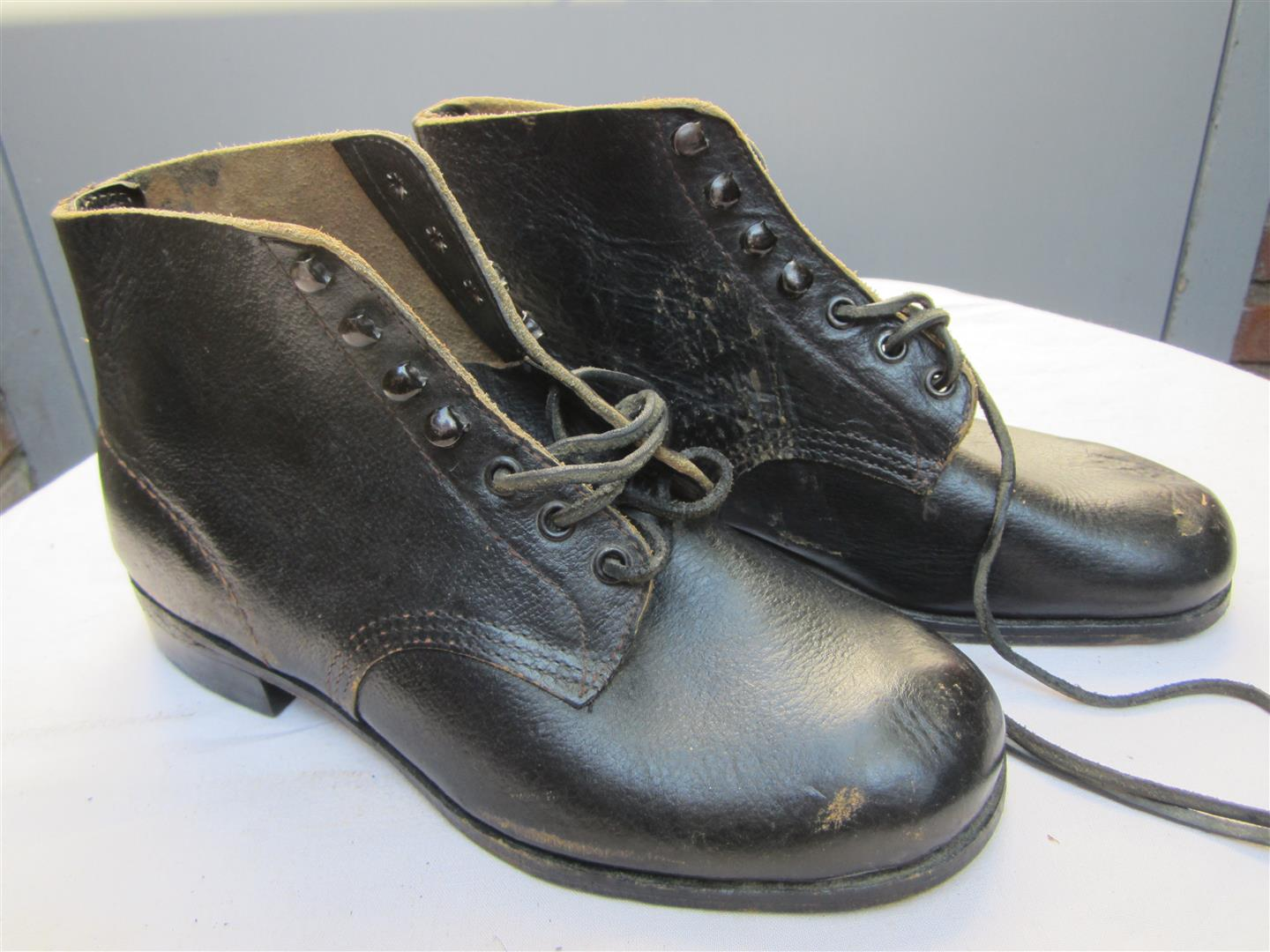 WW2 Black Panzer Boots