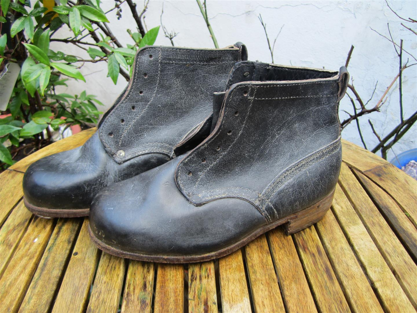 WW2 WH Black Ankle Boots