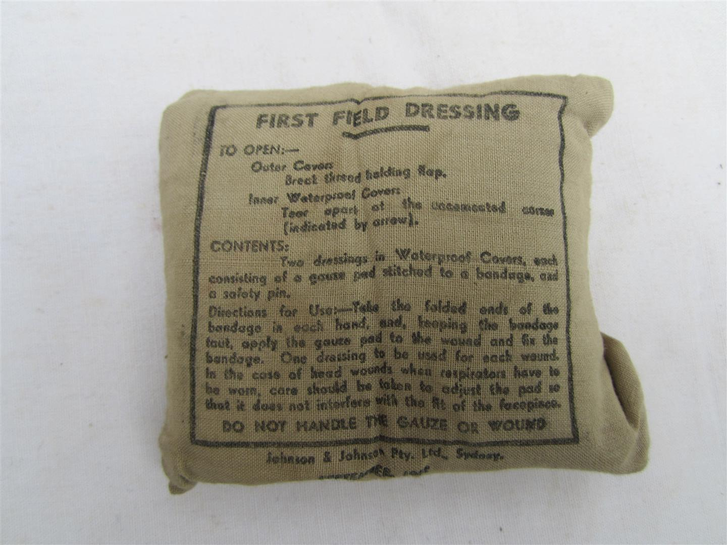WW2 Austrailian Field Dressing 1942
